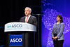 Plenary Session Bruce E. Johnson, MD, FASCO, presenting the Distinguished Achievement Award to Robert Mayer, MD, FASCO
