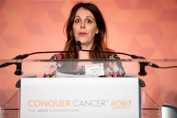 Conquer Cancer Dinner: An Evening to Conquer Cancer Featured speaker, and mother to ten-year-old cancer survivor, Brandy Raffin speaks