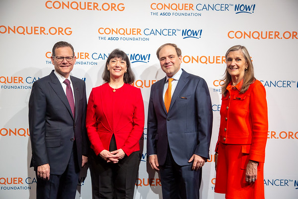 Opening Session Thomas G. Roberts, Jr., MD, Nancy Daly, MS, MPH, Clifford A. Hudis, MD, FACP, FASCO, with Conquer Cancer Top Donors