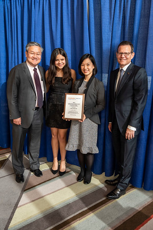 2019 Grants & Awards Ceremony and Reception Arti Hurria Endowed YIA recipient Dr. Li-Wen Huang with Dr. Thomas Lee and Dr. Clifford A. Hudis