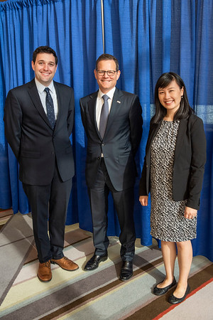 2019 Grants & Awards Ceremony and Reception Dr. Clifford A. Hudis with recipients of the two 2019 Endowed Young Investigator Award in Memory of Sally Gordon, Dr. Ying Liu and Dr. Daniel H. Johnson