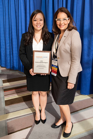 2019 Grants & Awards Ceremony and Reception Drs. Debra Patt and Gladys Rodriguez hosted a fundraiser to fund a Women Who Conquer Cancer YIA, awarded to Kelly S. Chien, MD of The University of Texas MD Anderson Cancer Center