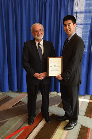 2019 Grants & Awards Ceremony and Reception Stephen A. Sherwin, MD, whose family funded the Sherwin Family Young Investigator Award, presented to William L. Hwang, MD, PhD of Massachusetts General Hospital