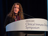 Dr. Filiz Oezkan presents Abstract 99 during Welcome and General Session 1