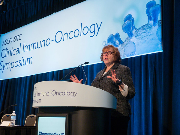 Mary L. Disis, MD, FASCO speaks during Immunology 201 session