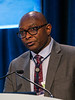 Dr. Kunle Odunsi discusses Abstracts 1 and 2 during Oral Abstract Session C