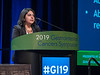 Hirva Mamdani, MD, Indiana University, presenting Abstract 5 during Rapid Abstract Session A