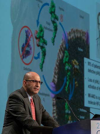 Toni K. Choueiri, MD, presents Abstract 611 during Oral Abstract Session C: Renal Cell Cancer