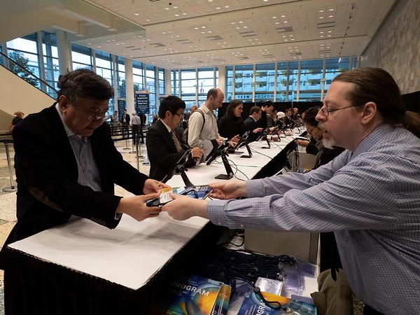Materials pick up & Registration during Registration