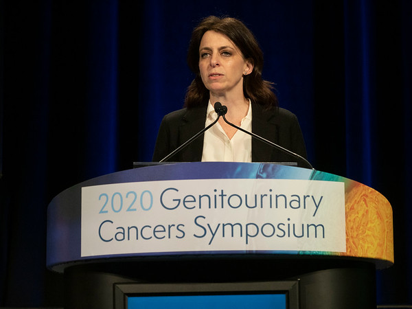 Dana E. Rathkopf, MD, discusses Abstract 162 during Oral Abstract Session A: Prostate Cancer
