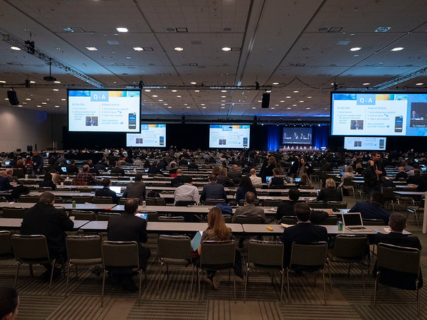 Panelists speak during Oral Abstract Session A: Prostate Cancer