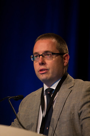 Orlando, FL - 2013 Genitourinary Cancers Symposium - Orlando, FL: Bas W. Van Rhijn, MD,PhD discusses State of the Art: Management of a Ta-Low Grade (LG) Bladder Cancer during the General Session IV: Urothelial Carcinomas: Multimodal Management of Difficult Cases (ARS) at the Genitourinary Cancers Symposium 2013 here today, Friday February 15, 2013. The Symposium is supported by ASCO, the American Society of Clinical Oncology, ASTRO, the American Society of Radiation Oncology and SUO, the Society of Urologic Oncology. Over 2,500 physicians, researchers and allied healthcare professionals are attending the meeting which is being held at the Rosen Shingle Creek in Orlando and features the latest Genitourinary Cancers research in the areas of basic and clinical science.  Date: Friday February 15, 2013.  Photo by © ASCO/Todd Buchanan 2013 Technical Questions: todd@medmeetingimages.com; Phone: 612-226-5154.
