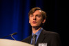 Orlando, FL - 2013 Genitourinary Cancers Symposium - Orlando, FL: Seth A. Strope, MD, MPH discusses Gene Expression and Mutation: Prognostic Biomarkers in Urothelial Cancer during the General Session V: Translational Science Session: Urothelial Carcinomas at the Genitourinary Cancers Symposium 2013 here today, Friday February 15, 2013. The Symposium is supported by ASCO, the American Society of Clinical Oncology, ASTRO, the American Society of Radiation Oncology and SUO, the Society of Urologic Oncology. Over 2,500 physicians, researchers and allied healthcare professionals are attending the meeting which is being held at the Rosen Shingle Creek in Orlando and features the latest Genitourinary Cancers research in the areas of basic and clinical science.  Date: Friday February 15, 2013.  Photo by © ASCO/Todd Buchanan 2013 Technical Questions: todd@medmeetingimages.com; Phone: 612-226-5154.