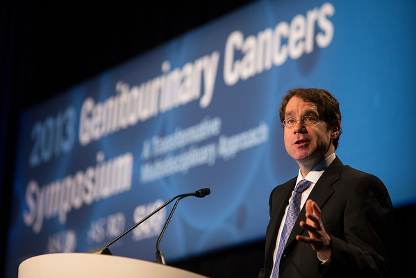 Orlando, FL - 2013 Genitourinary Cancers Symposium - Orlando, FL: Justin E. Bekelman, MD discusses State of the Art: Role of the Radiation Oncologist in High-Risk NMIBC during the General Session IV: Urothelial Carcinomas: Multimodal Management of Difficult Cases (ARS) at the Genitourinary Cancers Symposium 2013 here today, Friday February 15, 2013. The Symposium is supported by ASCO, the American Society of Clinical Oncology, ASTRO, the American Society of Radiation Oncology and SUO, the Society of Urologic Oncology. Over 2,500 physicians, researchers and allied healthcare professionals are attending the meeting which is being held at the Rosen Shingle Creek in Orlando and features the latest Genitourinary Cancers research in the areas of basic and clinical science.  Date: Friday February 15, 2013.  Photo by © ASCO/Todd Buchanan 2013 Technical Questions: todd@medmeetingimages.com; Phone: 612-226-5154.