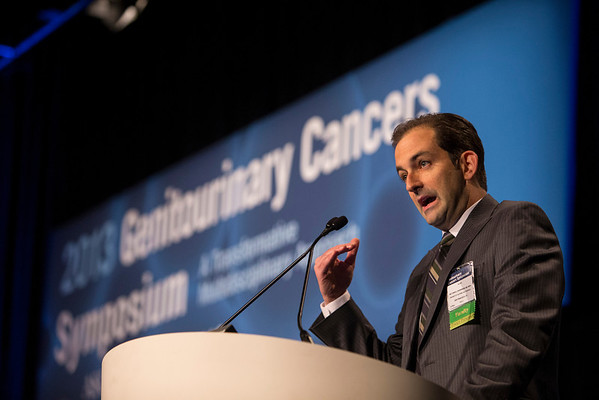 Orlando, FL - 2013 Genitourinary Cancers Symposium - Orlando, FL: Matthew R. Cooperberg, MD, MPH discusses What Tools Are Available to Aid in the Use of Active Surveillance? Biomarkers Perspective during the General Session I: : Prostate Cancer: Active Surveillance and Screening at the Genitourinary Cancers Symposium 2013 here today, Thursday February 14, 2013. The Symposium is supported by ASCO, the American Society of Clinical Oncology, ASTRO, the American Society of Radiation Oncology and SUO, the Society of Urologic Oncology. Over 2,500 physicians, researchers and allied healthcare professionals are attending the meeting which is being held at the Rosen Shingle Creek in Orlando and features the latest Genitourinary Cancers research in the areas of basic and clinical science.  Date: Thursday February 14, 2013.  Photo by © ASCO/Todd Buchanan 2013 Technical Questions: todd@medmeetingimages.com; Phone: 612-226-5154.