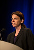 Orlando, FL - 2013 Genitourinary Cancers Symposium - Orlando, FL: Dana E. Rathkopf, MD discusses Updated interim analysis (IA) of COU-AA-302, a randomized phase III study of abiraterone acetate (AA) in patients (pts) with metastatic castration-resistant prostate cancer (mCRPC) without prior chemotherapy during the Oral Abstract Session A: Prostate Cancer at the Genitourinary Cancers Symposium 2013 here today, Thursday February 14, 2013. The Symposium is supported by ASCO, the American Society of Clinical Oncology, ASTRO, the American Society of Radiation Oncology and SUO, the Society of Urologic Oncology. Over 2,500 physicians, researchers and allied healthcare professionals are attending the meeting which is being held at the Rosen Shingle Creek in Orlando and features the latest Genitourinary Cancers research in the areas of basic and clinical science.  Date: Thursday February 14, 2013.  Photo by © ASCO/Todd Buchanan 2013 Technical Questions: todd@medmeetingimages.com; Phone: 612-226-5154.