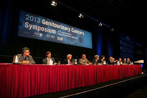 Orlando, FL - 2013 Genitourinary Cancers Symposium - Orlando, FL: The Panel  discusses Abstracts during the Oral Abstract Session A: Prostate Cancer at the Genitourinary Cancers Symposium 2013 here today, Thursday February 14, 2013. The Symposium is supported by ASCO, the American Society of Clinical Oncology, ASTRO, the American Society of Radiation Oncology and SUO, the Society of Urologic Oncology. Over 2,500 physicians, researchers and allied healthcare professionals are attending the meeting which is being held at the Rosen Shingle Creek in Orlando and features the latest Genitourinary Cancers research in the areas of basic and clinical science.  Date: Thursday February 14, 2013.  Photo by © ASCO/Todd Buchanan 2013 Technical Questions: todd@medmeetingimages.com; Phone: 612-226-5154.