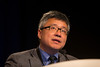 Orlando, FL - 2013 Genitourinary Cancers Symposium - Orlando, FL: William K. Oh MD discusses Abstracts as discussant during the Oral Abstract Session A:: Prostate Cancer at the Genitourinary Cancers Symposium 2013 here today, Thursday February 14, 2013. The Symposium is supported by ASCO, the American Society of Clinical Oncology, ASTRO, the American Society of Radiation Oncology and SUO, the Society of Urologic Oncology. Over 2,500 physicians, researchers and allied healthcare professionals are attending the meeting which is being held at the Rosen Shingle Creek in Orlando and features the latest Genitourinary Cancers research in the areas of basic and clinical science.  Date: Thursday February 14, 2013.  Photo by © ASCO/Todd Buchanan 2013 Technical Questions: todd@medmeetingimages.com; Phone: 612-226-5154.