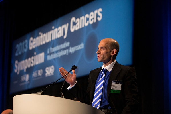 Orlando, FL - 2013 Genitourinary Cancers Symposium - Orlando, FL: Anthony V. D'Amico, MD discusses abstracts as discussant during the Oral Abstract Session A: Prostate Cancer at the Genitourinary Cancers Symposium 2013 here today, Thursday February 14, 2013. The Symposium is supported by ASCO, the American Society of Clinical Oncology, ASTRO, the American Society of Radiation Oncology and SUO, the Society of Urologic Oncology. Over 2,500 physicians, researchers and allied healthcare professionals are attending the meeting which is being held at the Rosen Shingle Creek in Orlando and features the latest Genitourinary Cancers research in the areas of basic and clinical science.  Date: Thursday February 14, 2013.  Photo by © ASCO/Todd Buchanan 2013 Technical Questions: todd@medmeetingimages.com; Phone: 612-226-5154.