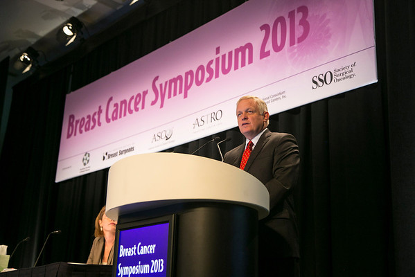 San Francisco, CA - 2013 Breast Cancer Symposium: William J. Gradishar, MD discusses New Data in Estrogen Receptor: Positive Disease and Treatment Sequence during General Session X  at the ASCO Breast Cancer Symposium here today, Monday September 9, 2013. The Symposium is supported by ASCO, the American Society of Clinical Oncology, ASTRO, the Society of Surgical Oncology and SUO, the American Society of Breast Disease, The American Society of Breast Surgeons and the National Consortium of Breast Centers. Over 1,000 physicians, researchers and allied healthcare professionals are attending the meeting which is being held at the Marriott Marquis in San Francisco and features the latest Breast Cancer research in the areas of basic and clinical science.  Date: Monday September 9, 2013.  Photo by © ASCO/Todd Buchanan 2013 Technical Questions: todd@medmeetingimages.com; Phone: 612-226-5154.