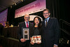 San Francisco, CA - 2013 Breast Cancer Symposium: Dr. Larry Norton recieves the Gianni Bonadonna Breast Cancer Award and Aki Morikowi, the Bonadonna Fellowship awardee, center, with ASCO President Cliff Hudis at the ASCO Breast Cancer Symposium here today, Sunday September 8, 2013. The Symposium is supported by ASCO, the American Society of Clinical Oncology, ASTRO, the Society of Surgical Oncology and SUO, the American Society of Breast Disease, The American Society of Breast Surgeons and the National Consortium of Breast Centers. Over 1,000 physicians, researchers and allied healthcare professionals are attending the meeting which is being held at the Marriott Marquis in San Francisco and features the latest Breast Cancer research in the areas of basic and clinical science.  Date: Sunday September 8, 2013.  Photo by © ASCO/Todd Buchanan 2013 Technical Questions: todd@medmeetingimages.com; Phone: 612-226-5154.