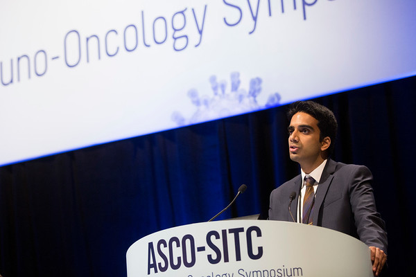 "Vancheswaran Gopalakrishnan, MPH, The University of Texas MD Anderson Cancer Center, presenting Abstract #2, ""Association of diversity and composition of the gut microbiome with differential responses to PD-1 based therapy in patients with metastatic melanoma"""
