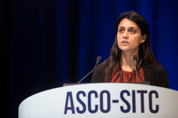 "Kavita M. Dhodapkar, MD, Yale University, presenting Abstract #3, ""Distinct dominant T-cell receptors with a tissue resident memory phenotype in individual melanoma metastases"""
