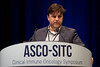 "Matthew Hellmann, MD, Memorial Sloan Kettering and Weill Cornell Medical College, presenting Abstract #77, ""Estimating long-term survival of PD-L1-expressing, previously treated, non-small cell lung cancer patients who received pembrolizumab in KEYNOTE-001 and -010"""