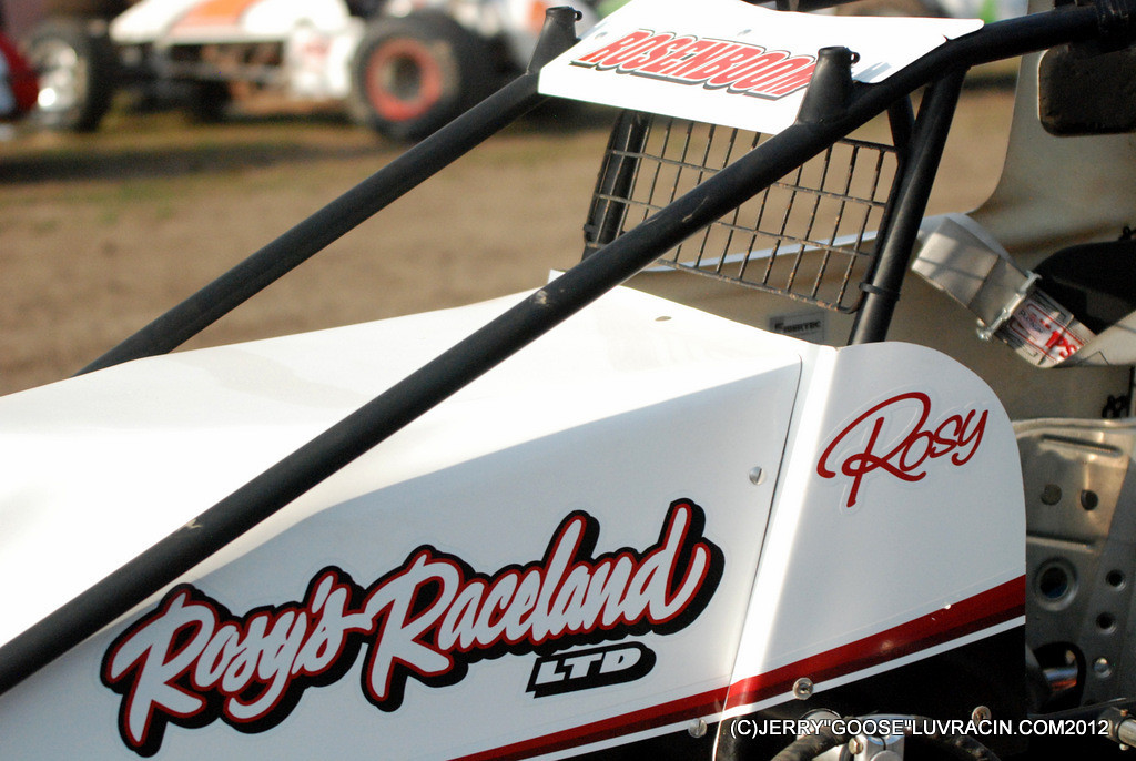 ROSY'S RACELAND ROSE IN HIS NON WING !