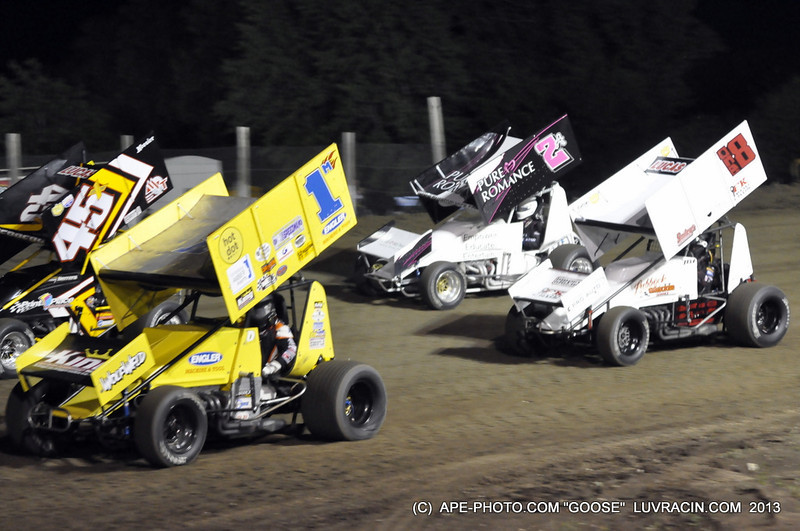FIRST AND SECOND ROWS A MAIN ASCS VALLEY SPEEDWAY