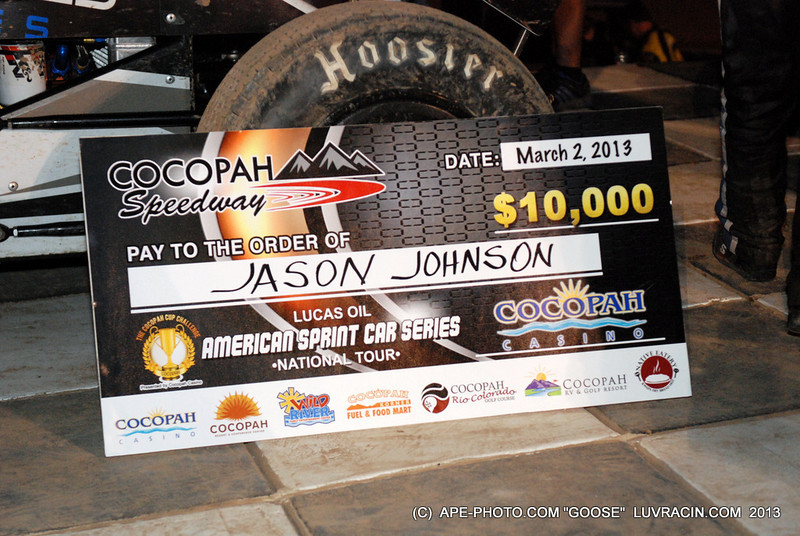 COCOPAH SPEEDWAY $ 10,000 BUCKS GO TO JASON JOHNSON