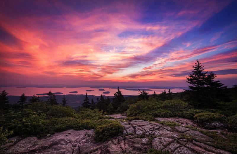 Summer Sunrise at Cadillac Mountain