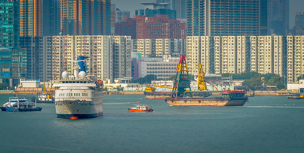 Busy Hong Kong harbour