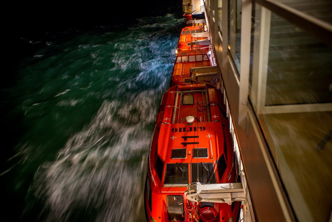 Lifeboats and the passing sea