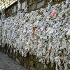 "EPHESUS -Virgin Mary's House, ""wishing wall"" which pilgrims have used by tying their personal intentions on paper or fabric"