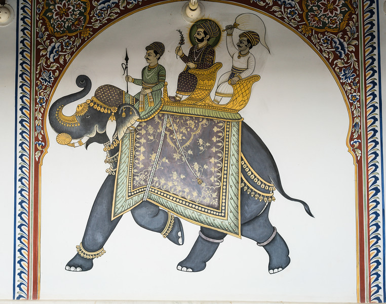 Decorations in a Haveli, Mandawa, Rajasthan