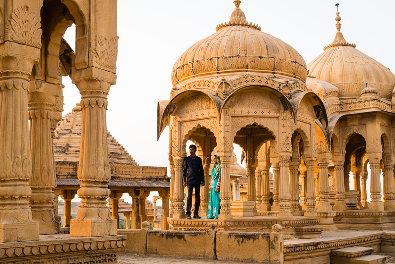 Bada Bagh Cenotaphs of the Maharajas, Jaisalmer, Rajasthan. Wedding Photos