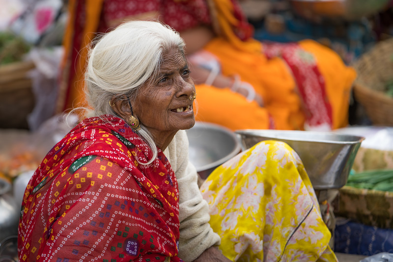 Old woman in the Market in Udaipur