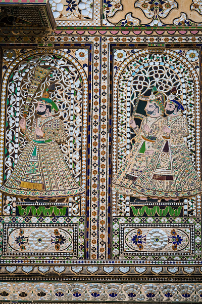 Wall Paintings, City Palace, Udaipur