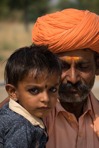 Man and child, Rohet, Rajasthan