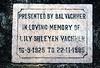 IN 95  Garden bench dedication plaque