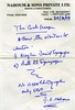 IN-D 409  Handwritten note of permission by David Nahoum to access the synagogues