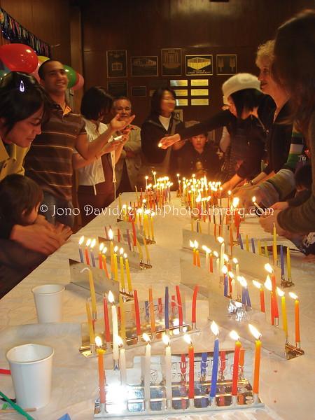 JP-D 271  Hanukkah Party, Ohel Shelomo Synagogue  KOBE, JAPAN