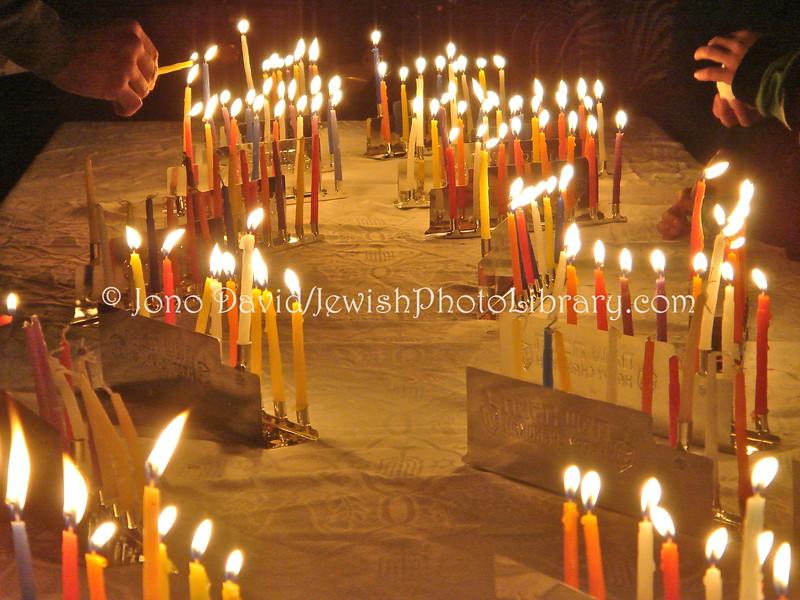 JP-D 266  Hanukkah Party, Ohel Shelomo Synagogue  KOBE, JAPAN