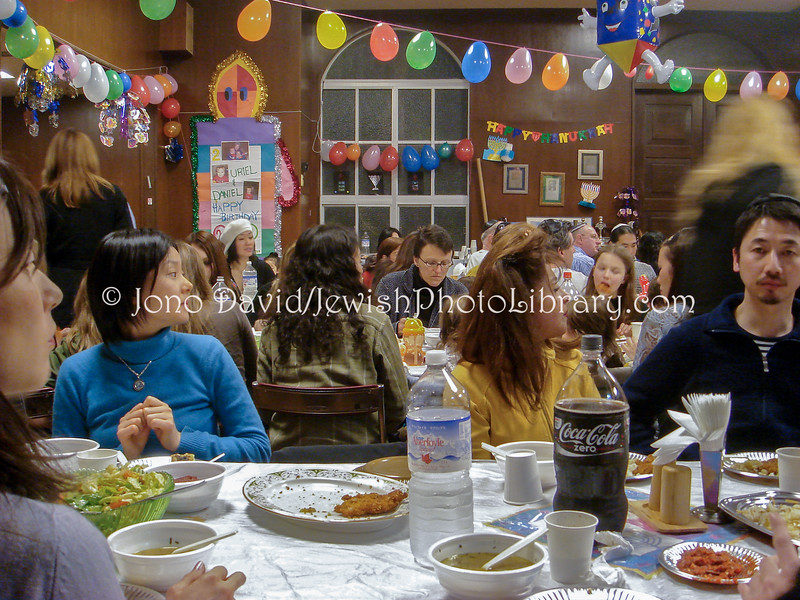 JP-D 238  Hanukkah Party, Ohel Shelomo Synagogue  KOBE, JAPAN