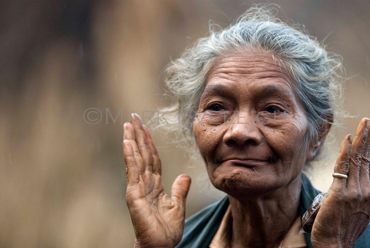 Portrait taken in the traditional village of Kampong Luba, near Bajawa, Flores