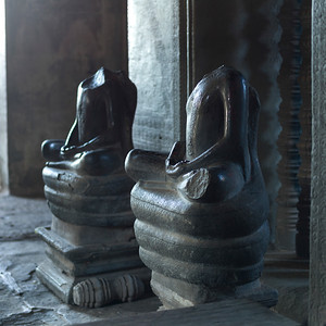 Statues in temple, Krong Siem Reap, Siem Reap, Cambodia