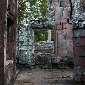 Stones ruins of Banteay Kdei, Angkor, Siem Reap, Cambodia