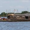 Houseboat in Tonle Sap lake, Kampong Phluk, Siem Reap, Cambodia