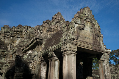 Low angle view of temple, Krong Siem Reap, Siem Reap, Cambodia
